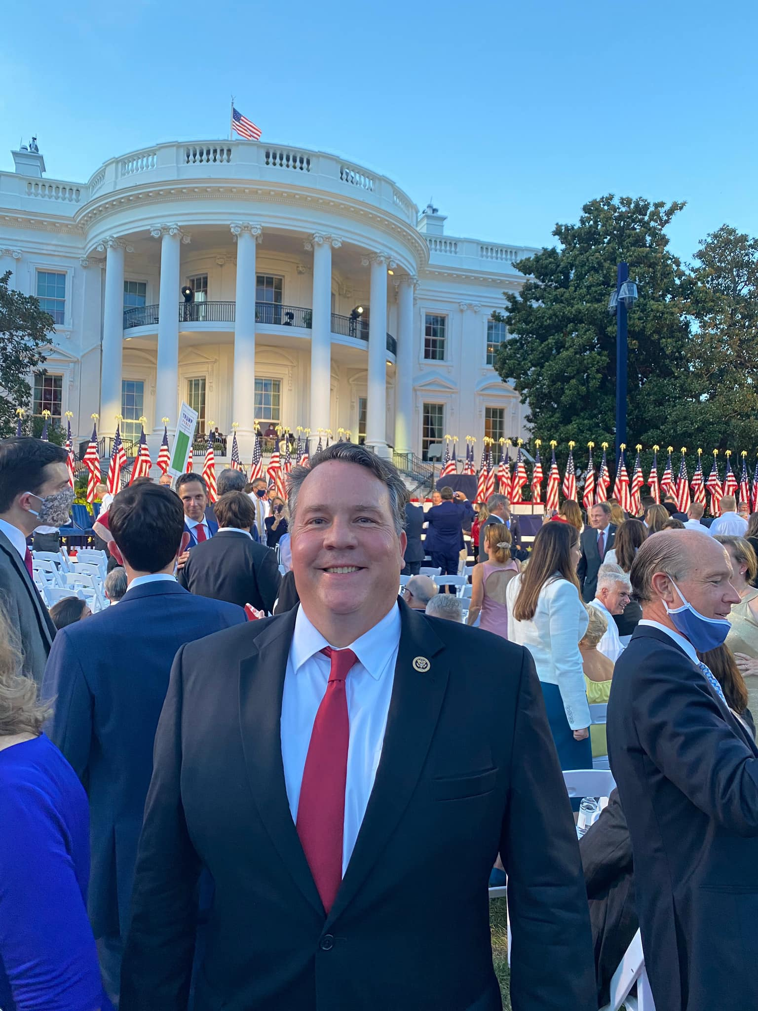Alex on the White House Lawn